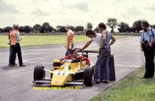 AYRTON SENNA FF2000 Van Diemen Castle Combe photo 1982